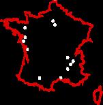 Carte implantation des agences du groupe