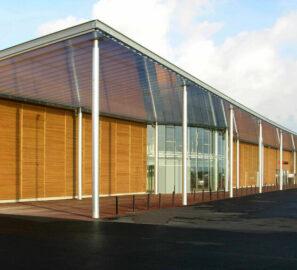 Façade extérieure Centre commercial Intermarché La Guérinière