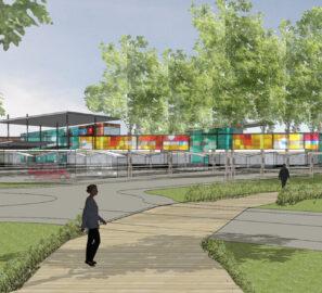 Projet construction centre commercial Challans