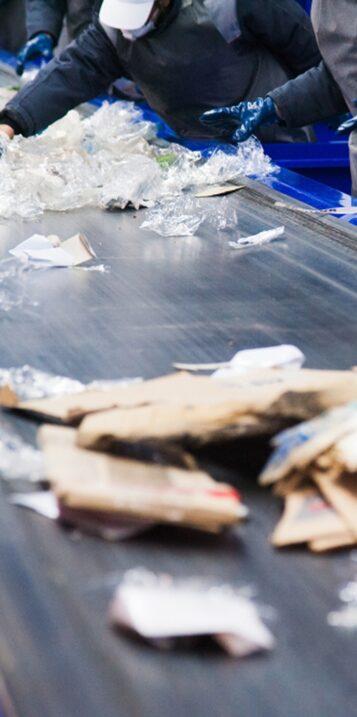 Centre de tri et déchets recyclables