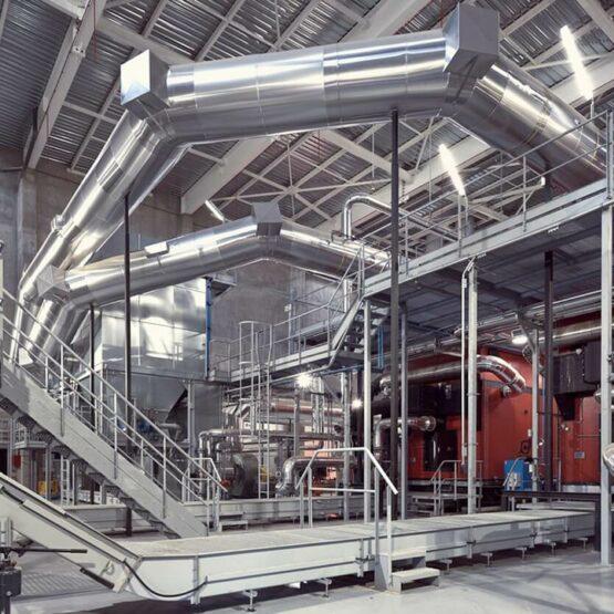 Intérieur de la chaufferie Biomasse Genevilliers
