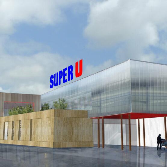 Conception extension centre commercial Monfort sur Meu