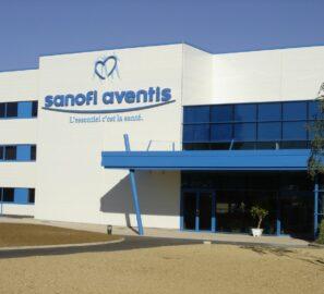 Façade extérieur usine Sanofi Aventis