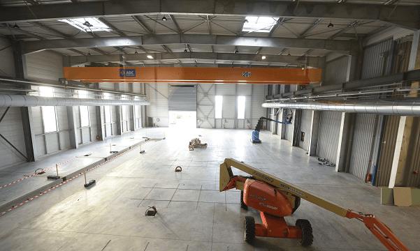 Construction site industriel aérospatial Zodiac Arcachon